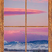 Colorado Moon Sunrise Barn Wood Picture Window View Poster