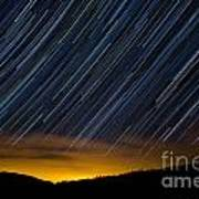 Colorado Mountain Startrails Poster by Benjamin Reed