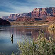 Colorado River Fisherman Poster