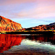 Colorado River Lees Ferry Painting Poster
