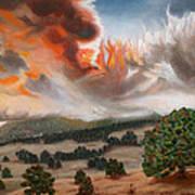 Colorado Wildfire-fern Lake Poster