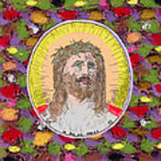 Colored Background Jesus Poster
