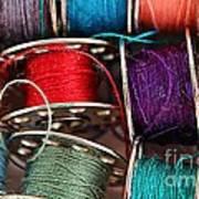 Colored Bobbins - Seamstress - Quilter Poster