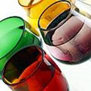 Colored Glasses At An Angle Poster