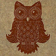 Colored Owl 2 Of 4  Poster