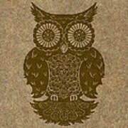 Colored Owl 3 Of 4  Poster