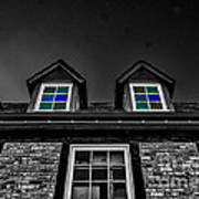 Colored Windows Poster