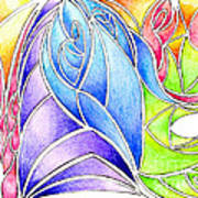 Colorful Abstract Drawing Poster