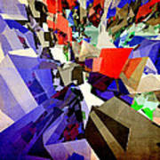 Colorful Abstract Geometric Cluster Poster