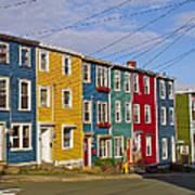 Colorful Apartment Buildings In Saint John's-nl Poster