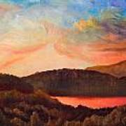Colorful Autumn Sunset Poster