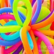Colorful Balloons Background Poster