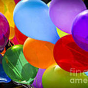 Colorful Balloons Poster
