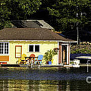 Colorful Boathouse Poster