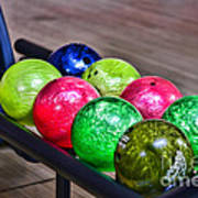 Colorful Bowling Balls Poster