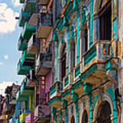 Colorful Buildings In Havana Poster