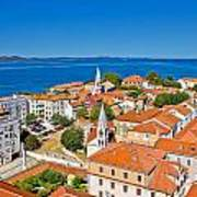 Colorful City Of Zadar Rooftops  Towers Poster