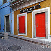 Colorful Doors Guanajuato Mexico Poster