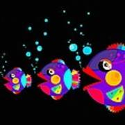 Colorful Fish Creation Poster