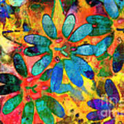 Colorful Floral Abstract IIi Poster