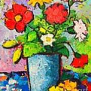 Colorful Flowers From My Garden Poster