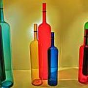 Colorful Glass Bottles Poster