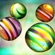 Colorful Glass Marbles Poster