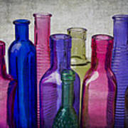 Colorful Group Of Bottles Poster
