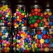 Colorful Gumballs Poster