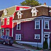 Colorful Homes In Saint John's-nl Poster