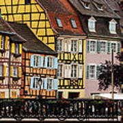 Colorful Homes Of La Petite Venise In Colmar France Poster