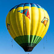 Colorful Hot Air Balloon Over Vermont Poster