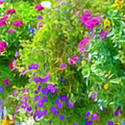 Colorful Large Hanging Flower Plants 3 Poster