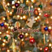 Colorful Lights Christmas Card Poster