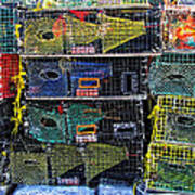 Colorful Lobster Traps Poster