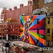 Colorful Mural Chelsea New York City Poster