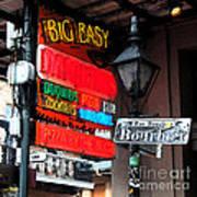 Colorful Neon Sign On Bourbon Street Corner French Quarter New Orleans Fresco Digital Art Poster