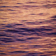 Colorful Ocean Water At Sunset Poster