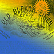 Colorful Old Bleach Linen Ad Poster