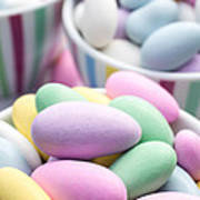 Colorful Pastel Jordan Almond Candy Poster
