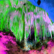 Colorful Phosphorescent Cave Poster