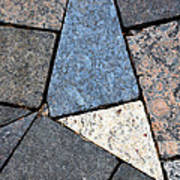 Colorful Rock Pavers Poster