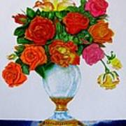 Colorful Roses Poster by Zina Stromberg