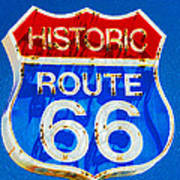 Colorful Route 66 Poster