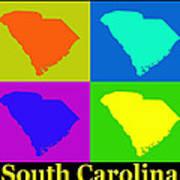 Colorful South Carolina Pop Art Map Poster