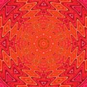 Colorful Sun Mandala Poster