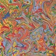 Colorful Swirls Drip Painting Poster
