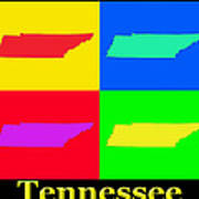 Colorful Tennessee Pop Art Map Poster