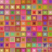 Colorful Textured Squares Poster