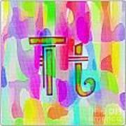 Colorful Texturized Alphabet Tt Poster